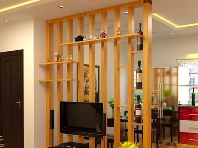 Lam gỗ nhựa iWood trang trí phòng khách
