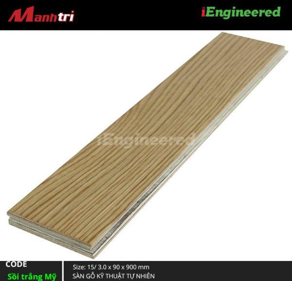 sàn gỗ engineer sồi trắng b