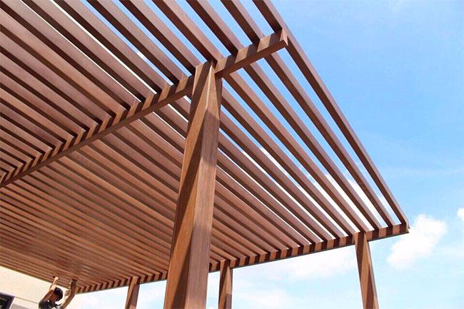 Thanh lam gỗ nhựa iWood lăp đặt không gian ngoài trời