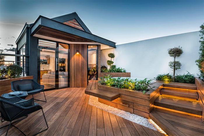 Sân thượng được thiết kế theo phong cách Terrace
