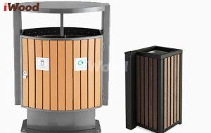 Thùng rác gỗ nhựa iWood tiện lợi và thông dụng.