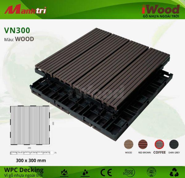 vỉ gỗ iWood VN300 Coffee hình 2