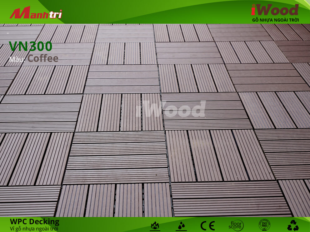 vỉ gỗ iWood VN300 Coffee hình 5