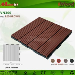 vỉ gỗ iwood VN300 Red Brown