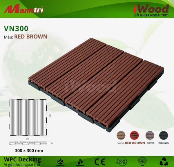 vỉ gỗ iwood VN300 Red Brown