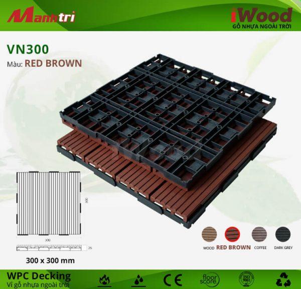 vỉ gỗ iwood VN300 Red Brown hình 1