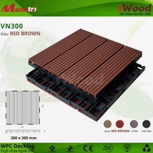 vỉ gỗ iwood VN300 Red Brown hình 2