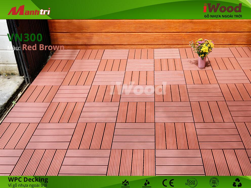 vỉ gỗ iwood VN300 Red Brown hình 3