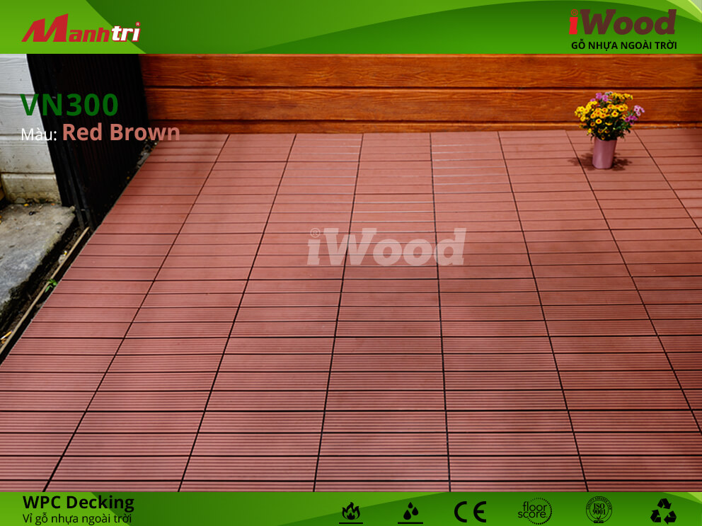 vỉ gỗ iwood VN300 Red Brown hình 4