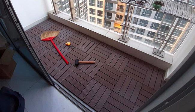 Vỉ gỗ nhựa iWood lót sàn ban công