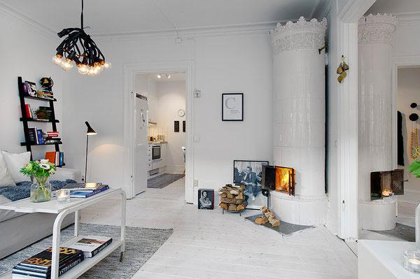 đá trang trí góp phần nội thất gia đinh mang phong cách scandinavian
