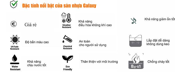 Đặc tính nổi bật của sàn nhựa Galaxy