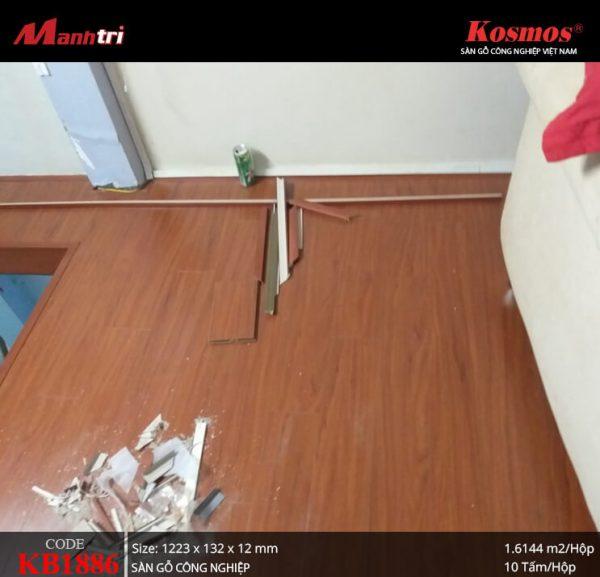 thi công sàn gỗ Kosmos KB1886