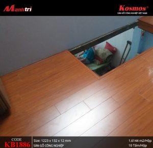 thi công sàn gỗ Komos KB1886