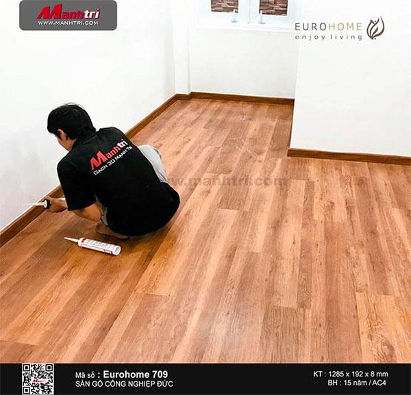 Hoàn thiện công trình sàn gỗ Eurohoem