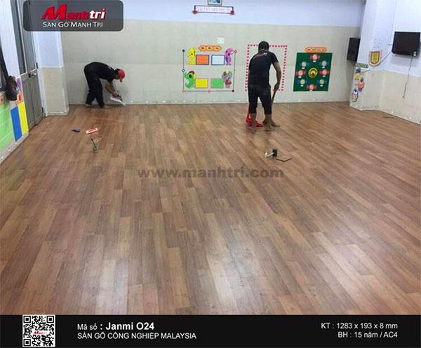 Công trình hoàn thiện sàn gỗ Janmi O24