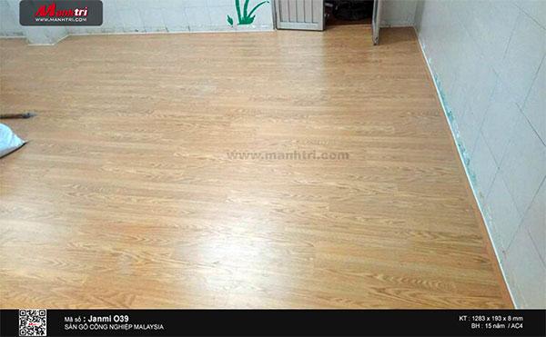 Hình ảnh hoàn thiện sàn gỗ Janmi O39