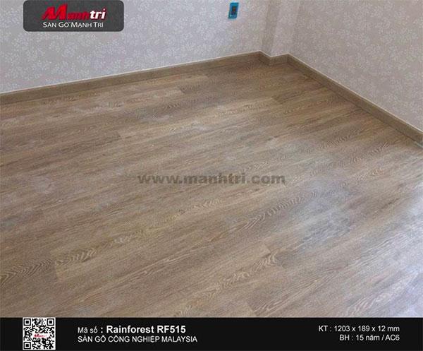 Hình ảnh sàn gỗ Rainforest RF515 sau khi lắp đặt