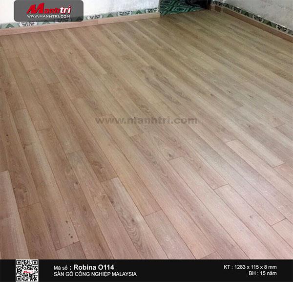 Hình ảnh hoàn thiện công trình sàn gỗ Robina O114