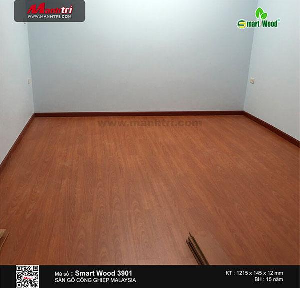 Hình ảnh hoàn thiện sàn gỗ Smartwood mã 3901