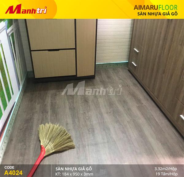 Hoàn thiện công trình sàn nhựa Aimaru mã A4024