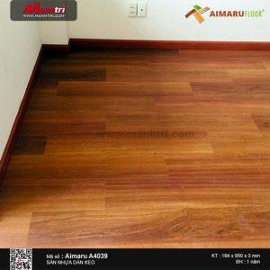 Thi công lắp đặt sàn nhựa vân gỗ Aimaru mã A4039