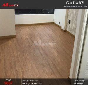 Sàn nhựa Galaxy Gold 9007 sau khi hoàn thiện
