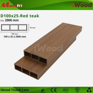 thanh lam iWood D100x25-Red teak 2