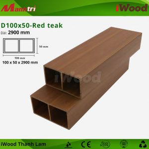 Thanh lam iWood D100x50-red teak 1