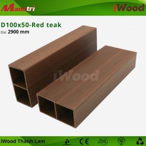 Thanh lam iWood D100x50-red teak 2