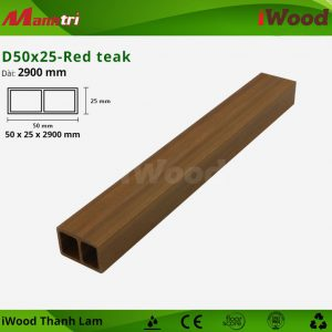 Thanh lam iwood D50x25- red teak 1