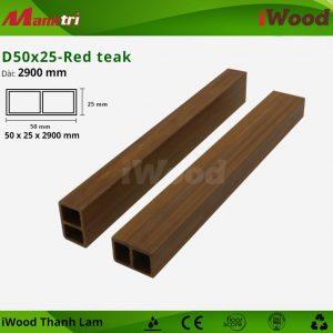 Thanh lam iwood D50x25- red teak 2