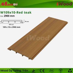 iWood ốp tường W109x10-red teak 1