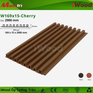 iWood ốp tường W169x15-Cherry-1
