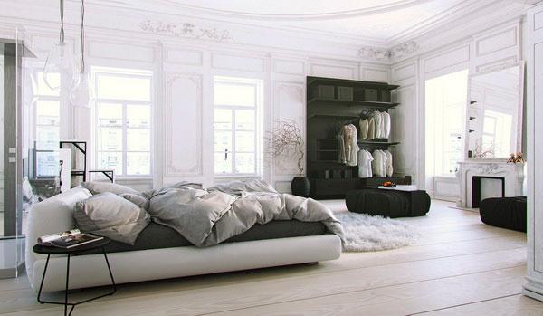 Phong cách Scandinavian đưọc trang trí trong phòng ngủ
