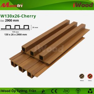 iWood ốp tường W130x26-cherry hình 2