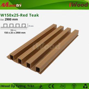 iWood ốp tường W150x25-red teak-1