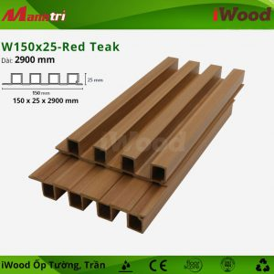 iWood ốp tường W150x25-red teak-2