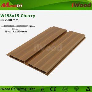iWood ốp tường W198x15-cherry-1
