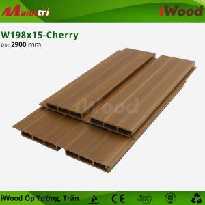 iWood ốp tường W198x15-cherry-2