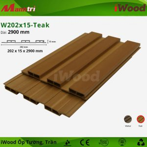 iWood ốp tường W202x15-teak-2