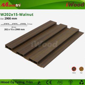 iwood ốp tường W202x15-Walnut-1
