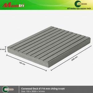 """lót sàn conwood deck 6""""/14mm chống trượt"""