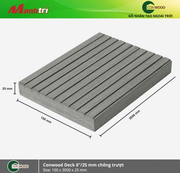 """lót sàn conwood deck 6""""/25mm chống trượt"""