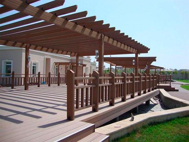 Hình ảnh giàn Pergola gỗ nhựa WPC