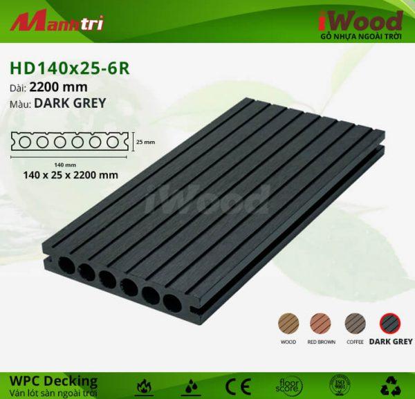 lót sàn iWood HD140x25-6R-dark grey hình 1