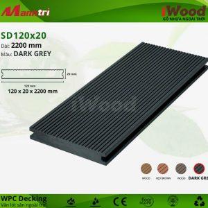 lót sàn iWood SD120x20-Dark Grey hình 1