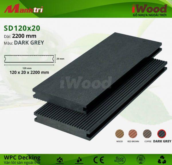 lót sàn iWood SD120x20-Dark Grey hình 2