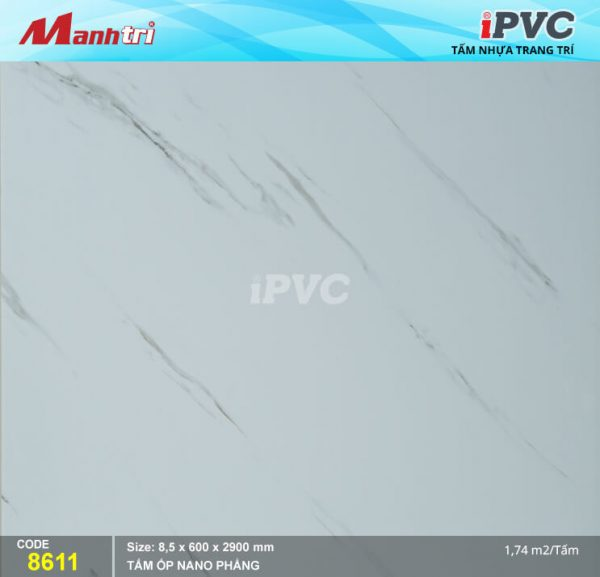 Tấm nhựa iPVC phẳng 8611 hình 1
