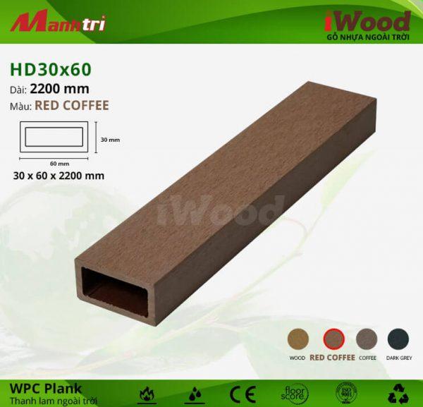 thanh lam iwood HD30x60-Red Coffee hình 1
